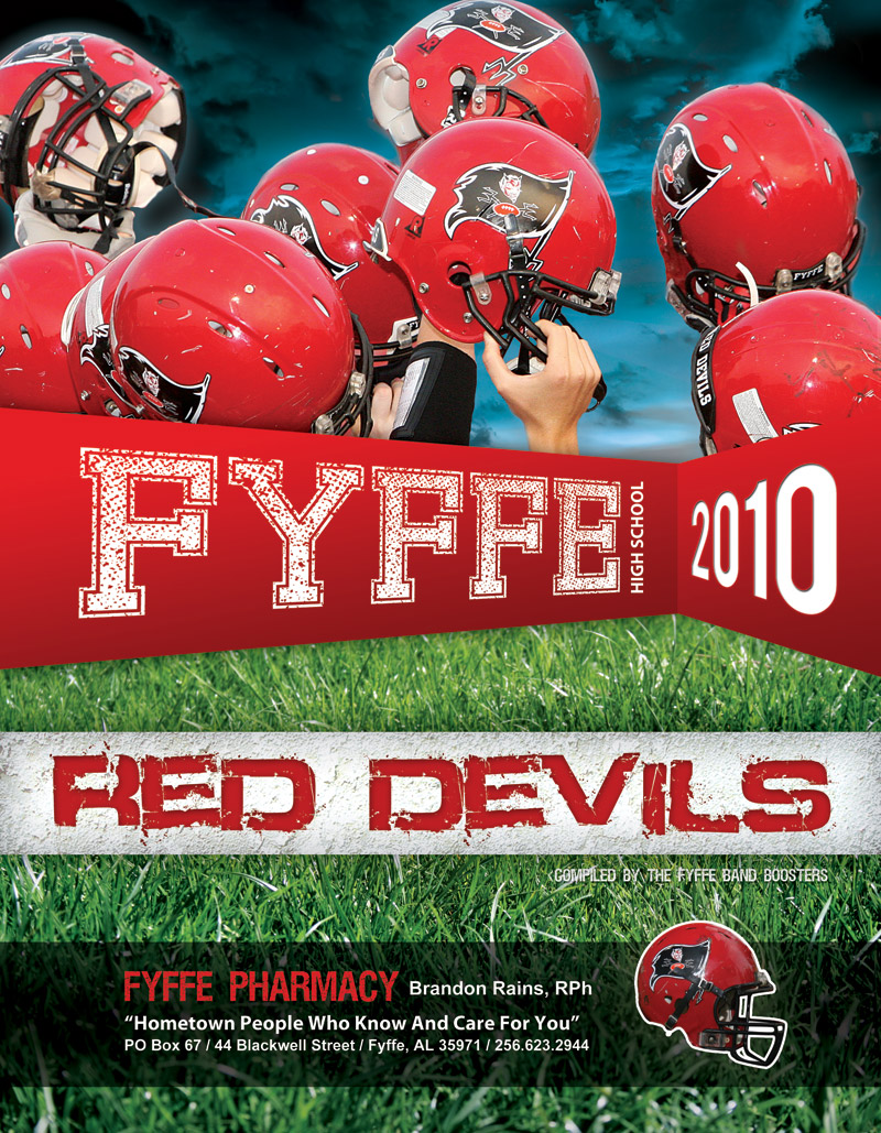 The cover of the Fyffe High School Football Program