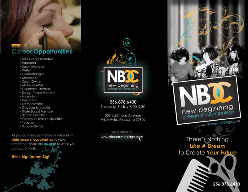 Front of NBCC brochure